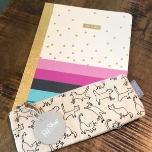 NWT! cat pouch with notebook